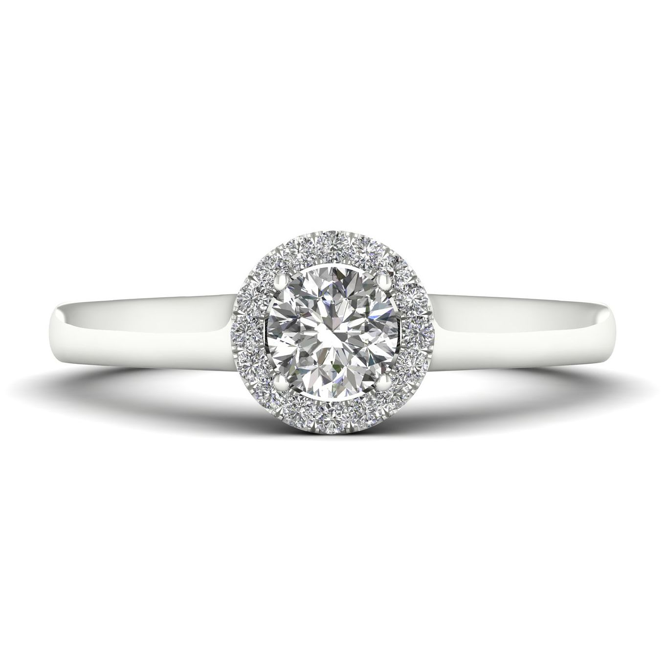 The Diamond Story Platinum 0.33ct Round Halo Ring - Product number 9032282