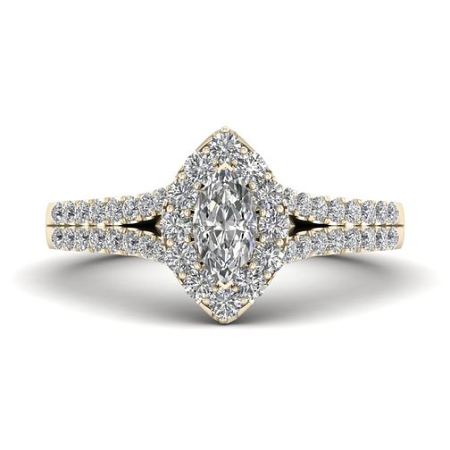 a40c617ce The Diamond Story 18ct Yellow Gold 0.66ct Marquise Halo Ring - Product  number 9040293