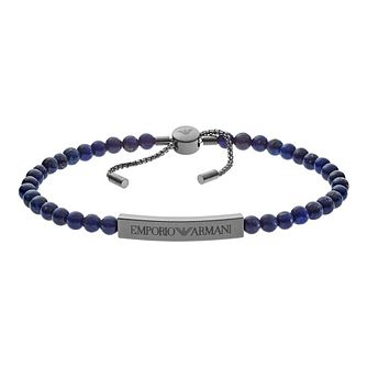 Emporio Armani Men's Blue Bead Bracelet - Product number 9040765