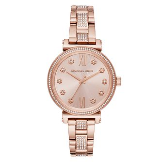 Michael Kors Mini Sofie Ladies' Rose Gold Tone Watch - Product number 9040803