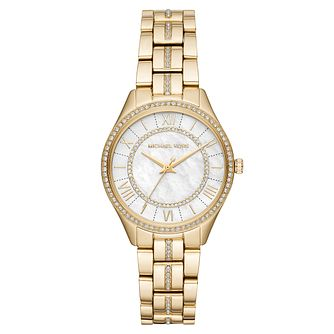 Michael Kors Mini Lauryn Ladies' Yellow Gold Tone Watch - Product number 9040838
