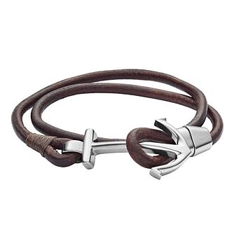 Fossil Vintage Men's Brown Bracelet - Product number 9040927