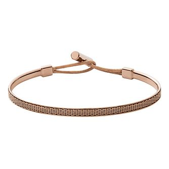 Skagen Anette Ladies' Rose Gold Tone Woven Bracelet - Product number 9041192
