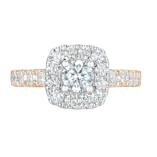Tolkowsky 18ct Rose Gold 1.50ct Cushion Diamond Halo Ring - Product number 9045422