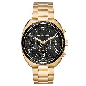 Michael Kors Dane Men's Yellow Gold Tone Chronograph Watch - Product number 9046496