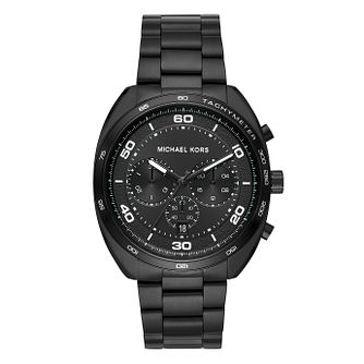 Michael Kors Dane Men's Black Ion Plated Chronograph Watch - Product number 9046518