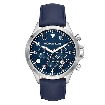 Michael Kors Gage Men's Blue Chronograph Strap Watch - Product number 9047344
