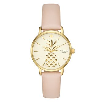 Kate Spade Metro Ladies' Gold Tone Pineapple Strap Watch - Product number 9047441