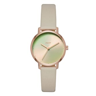 DKNY Modern Ladies' Rose Gold Tone Iridescent Dial Watch - Product number 9047484
