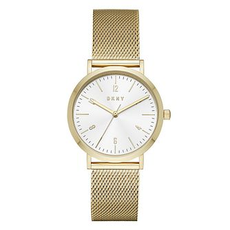 Dkny Yellow Gold Plated Minetta Mesh Bracelet Watch - Product number 9047492
