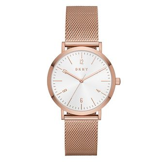 Dkny Minetta Rose Gold Plated Mesh Bracelet Watch - Product number 9047506