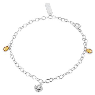 Enchanted Disney Diamond & Citrine Belle Charm Bracelet - Product number 9047700