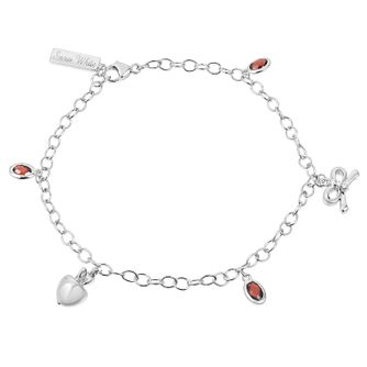 Enchanted Disney Diamond & Garnet Snow White Charm Bracelet - Product number 9047743
