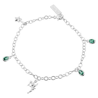 Enchanted Disney Diamond & Topaz Tinker Bell Charm Bracelet - Product number 9047751
