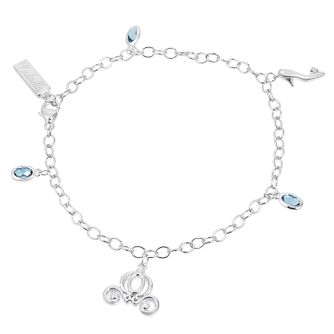 Enchanted Disney Diamond & Topaz Cinderella Charm Bracelet - Product number 9047794