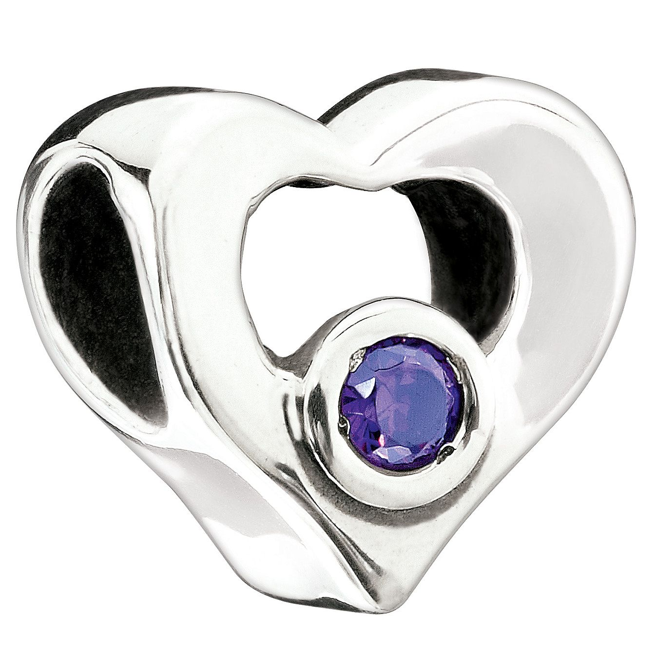 Chamilia purple heart bead - Product number 9054707