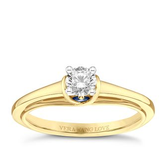 Vera Wang 18ct Yellow Gold 0.30ct Diamond Solitaire Ring - Product number 9091483