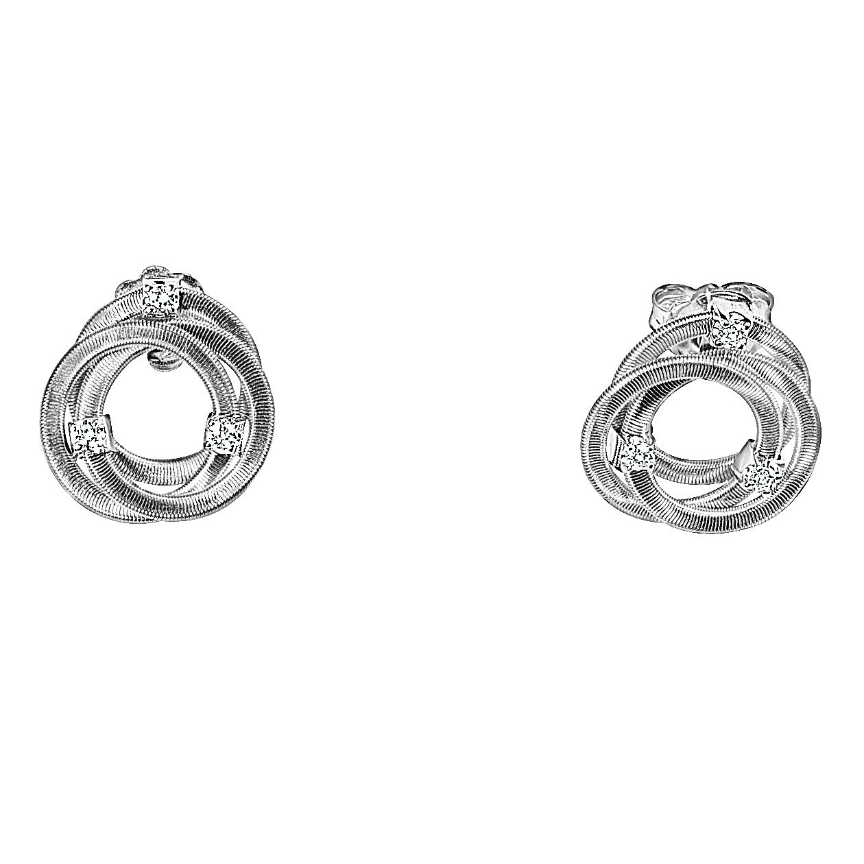 Marco Bicego 18ct White Gold 0.15ct Diamond Earrings - Product number 9095837