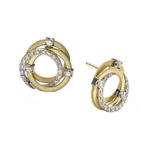 Marco Bicego Goa 18ct gold 42 point diamond stud earrings - Product number 9095845