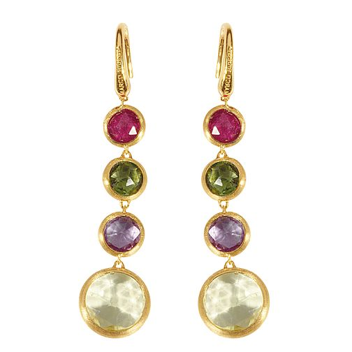 Marco Bicego 18ct yellow gold multi stone earrings - Product number 9095950