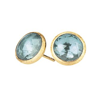 Marco Bicego  Jaipur 18ct Yellow Gold Blue Topaz Earrings - Product number 9095977