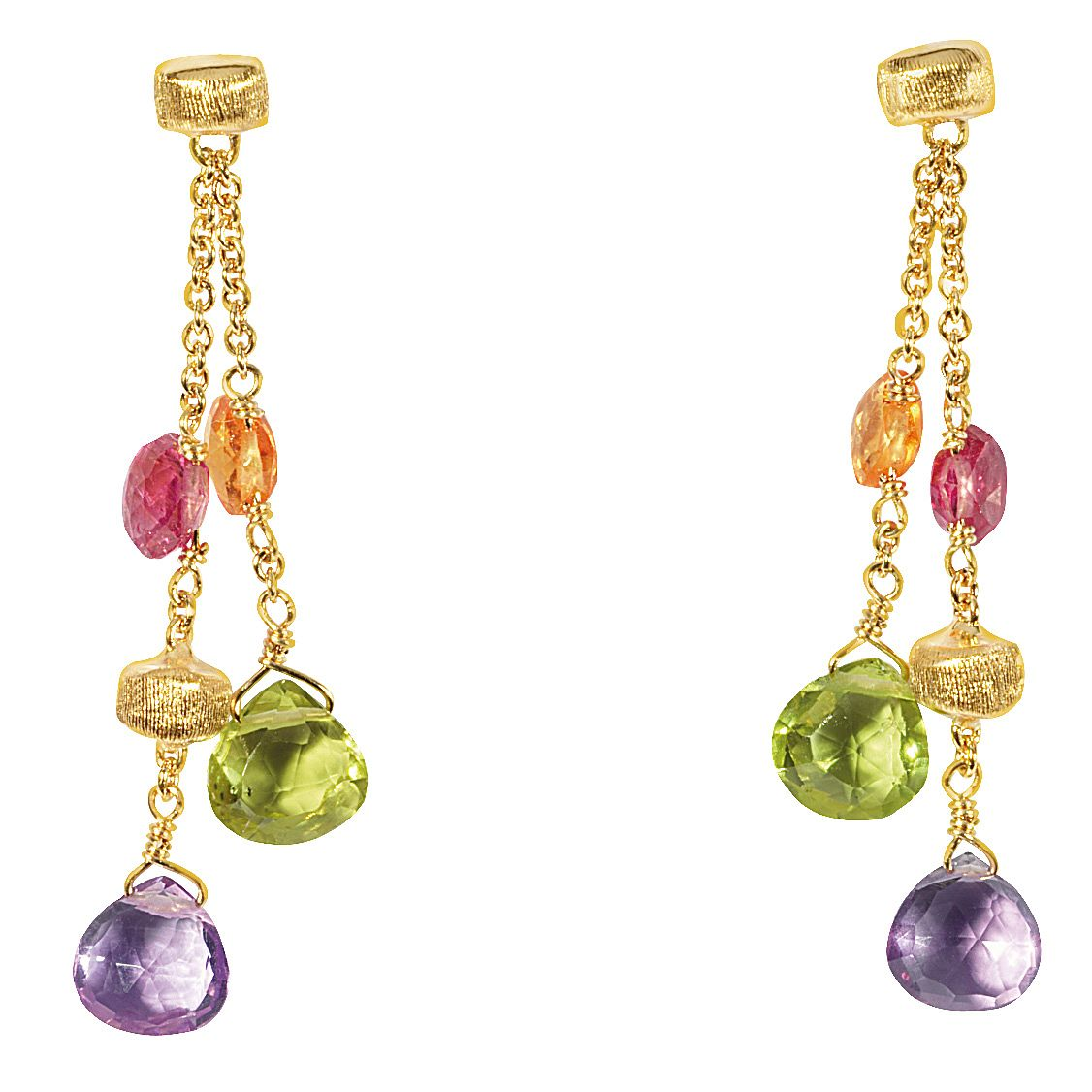 Marco Bicego 18ct Yellow Gold Multi Stone Earrings - Product number 9096264