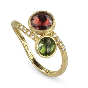 Marco Bicego Jaipur 18ct Gold Tourmaline & Diamond Ring - Product number 9097635