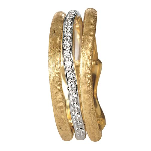Marco Bicego 18ct yellow gold diamond stack ring - Product number 9098917