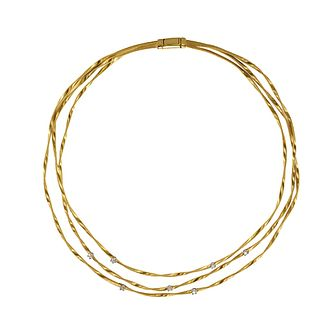 Marco Bicego Marrakech 18ct yellow gold diamond necklace - Product number 9099506
