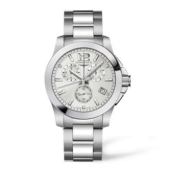 Longines Conquest Men's Chronograph Bracelet Watch - Product number 9099999