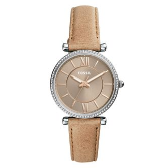 Fossil Ladies' Brown Leather Strap Watch - Product number 9103287