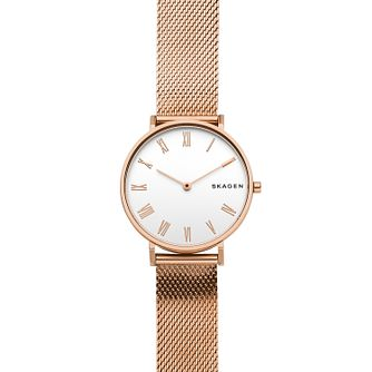 Skagen Hald Ladies' Rose Gold Mesh Strap Watch - Product number 9103635