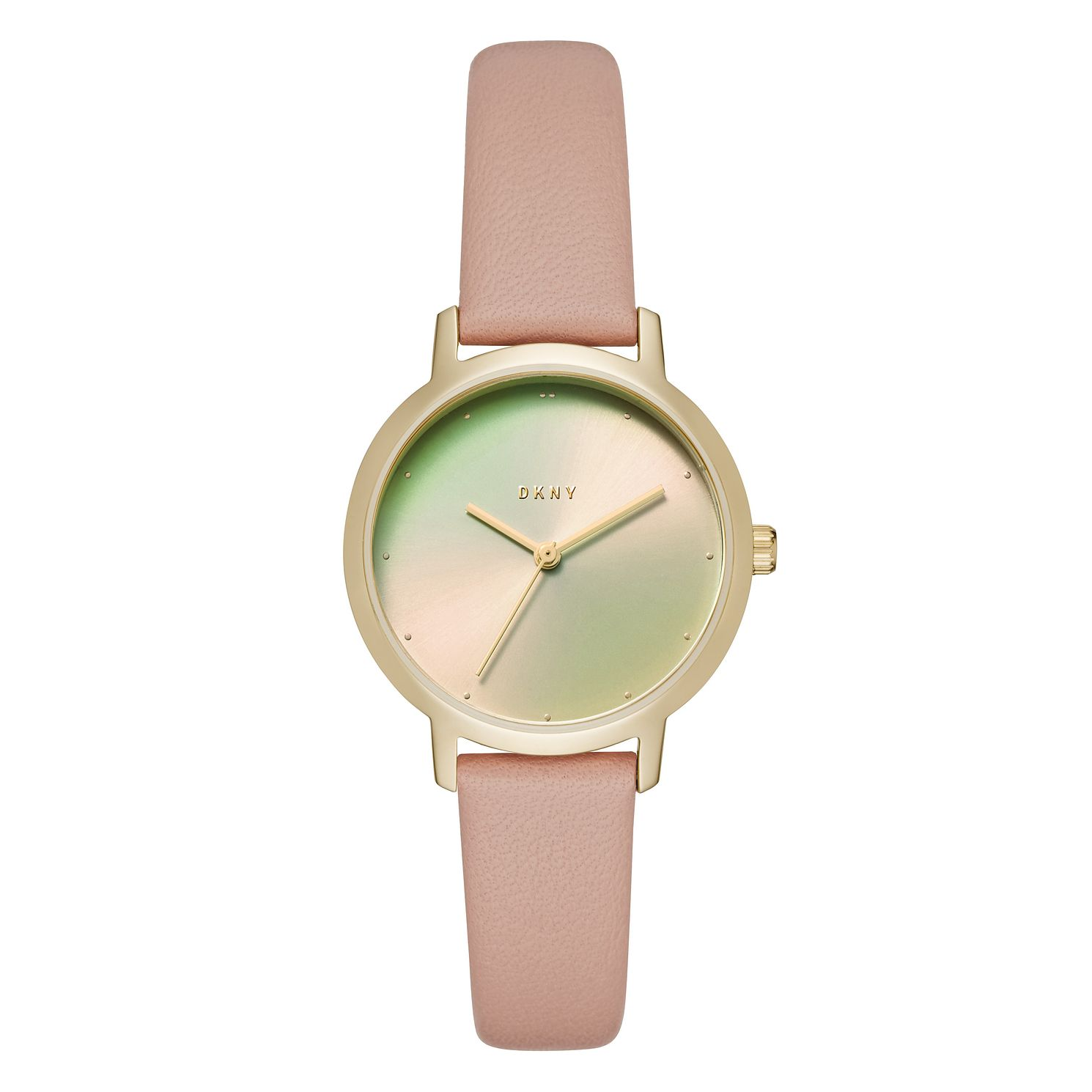 DKNY Ladies' Pink Leather Strap Watch - Product number 9103740