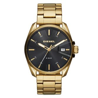 Diesel MS9 Men's Gold Tone Stainless Steel Bracelet Watch - Product number 9104267