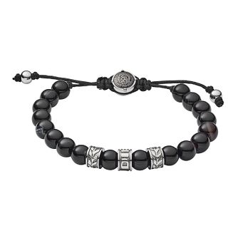 Diesel Men's Black Bead Bracelet - Product number 9104372