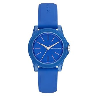 Armani Exchange Ladies' Blue Silicone Strap Watch - Product number 9105573