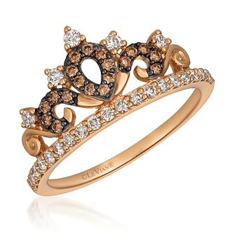 14ct Strawberry Gold Chocolate Diamond Tiara Ring - Product number 9106227