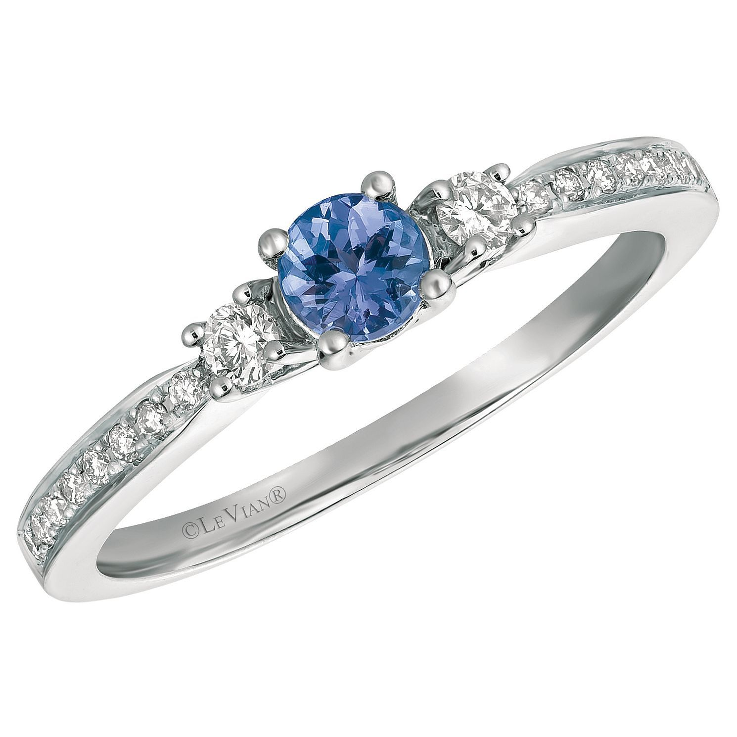 Le Vian 14ct Vanilla Gold Blueberry Tanzanite & Diamond Ring - Product number 9108475