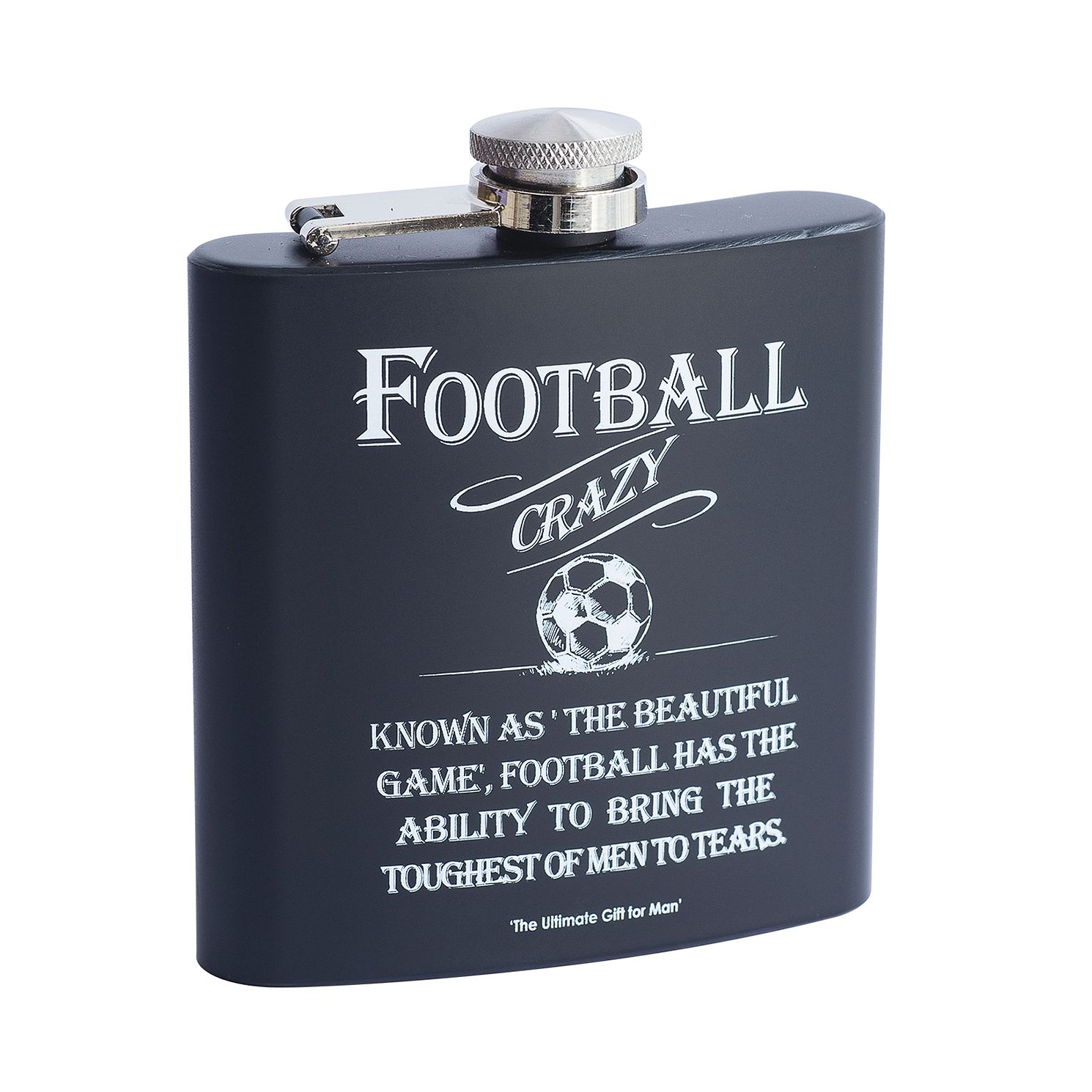 Football Crazy 6oz Hip Flask - Product number 9111212