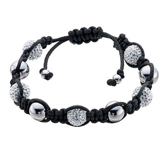Eternal Men's Stainless Steel Clear Crystal Bracelet - Product number 9125078