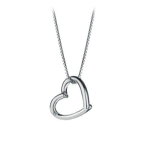 Hot Diamonds sterling silver overlap open heart pendant - Product number 9125965