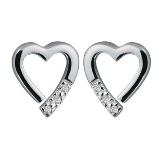 0cadbd4c01c4 Hot Diamonds sterling silver open heart earrings - Product number 9126031