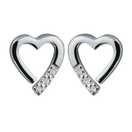 Hot Diamonds sterling silver open heart earrings - Product number 9126031