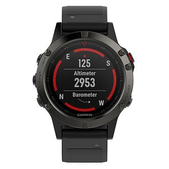 Garmin Fenix 5 Men's Slate Grey Silicone Strap Smartwatch - Product number 9176055