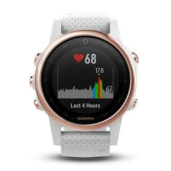 Garmin Fenix 5S Ladies' White Silicone Strap Smartwatch - Product number 9176101