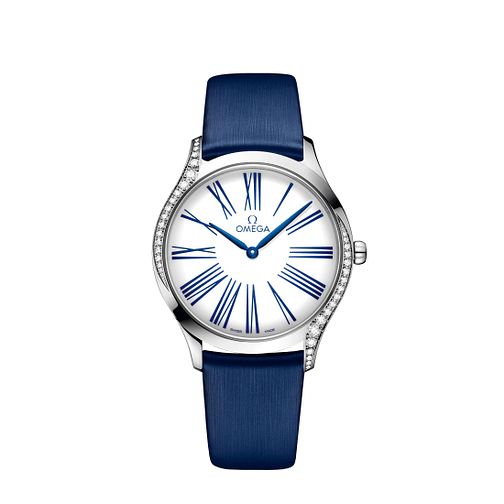 Omega De Ville Tresor Ladies' Diamond Blue Strap Watch - Product number 9176594
