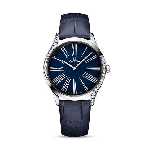 Omega De Ville Tresor Ladies' Diamond Dark Blue Strap Watch - Product number 9176829
