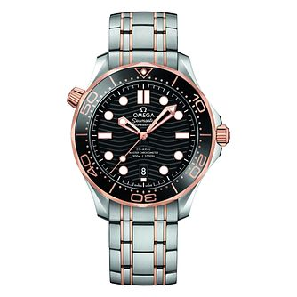 Omega Seamaster Diver Men's Two Colour Bracelet Watch - Product number 9176853