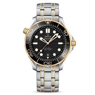 Omega Seamaster Diver Men's Two Colour Bracelet Watch - Product number 9176969