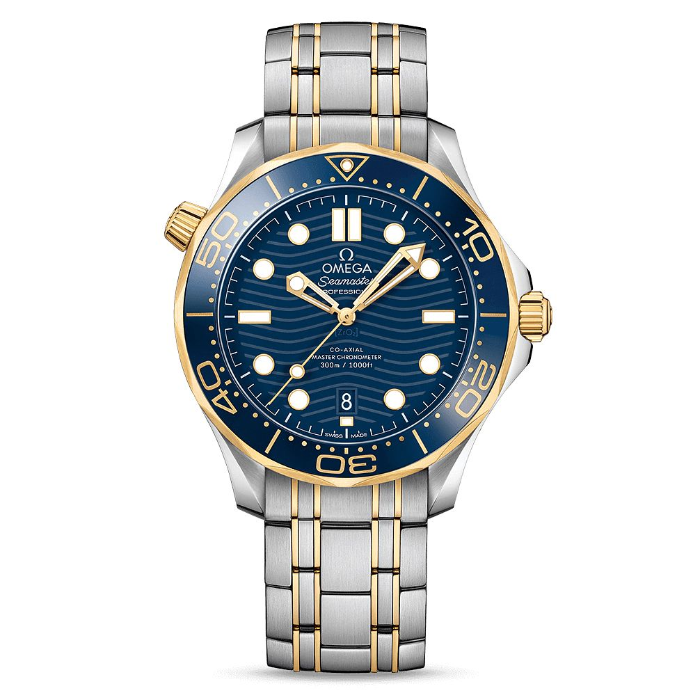Omega Seamaster Diver Men's Two Colour Bracelet Watch - Product number 9177159